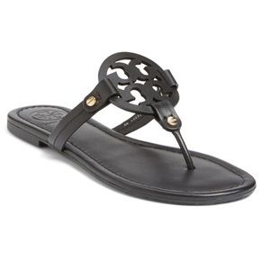 Tory Burch Miller sandals Black leather 8.5